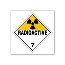 "Radioactive Warning Sign Square Sticker 3"" x 3"""