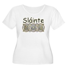 Slainte (Gaelic) Plus Size Scoop Neck T-Shirt