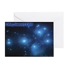Sweet OM Pleiades poster Greeting Card