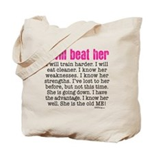 i will beat her 4 SQ pink Tote Bag