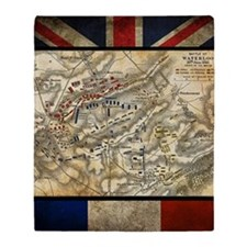 Battle of Waterloo Throw Blanket