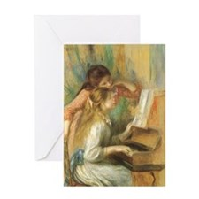 Young Girls at the Piano by Renoir Greeting Card