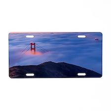 The Golden Gate Bridge San  Aluminum License Plate