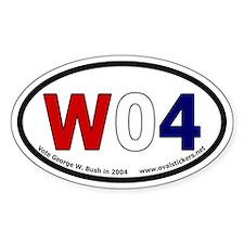 George W. Bush oval bumper sticker.