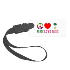 Peace Love Saudi Arabia Luggage Tag
