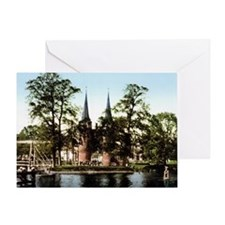 Delft_Oostpoort_1900 Greeting Card