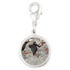 ornament 8 Silver Round Charm