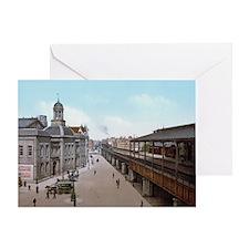 Rotterdam_-_De_Beurs_en_Station_Beur Greeting Card