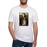 MonaLisa-AussieShep #4 Fitted T-Shirt