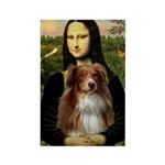 MonaLisa-AussieShep #4 Rectangle Magnet (10 pack)