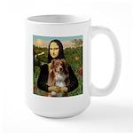 MonaLisa-AussieShep #4 Large Mug