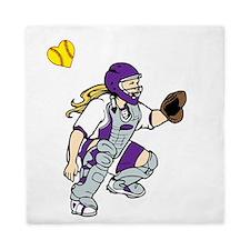purple2, I love my catcher Queen Duvet