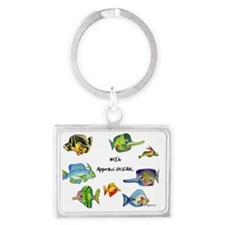 8 Cartoon fish appreciOCEAN Landscape Keychain
