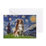 Starry-Aussie Shep #4 Greeting Cards (Pk of 10)