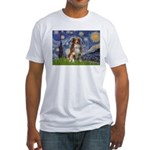 Starry-Aussie Shep #4 Fitted T-Shirt