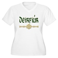 Sister (Gaelic) Plus Size V-Neck T-Shirt