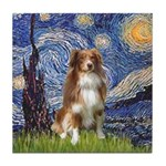 Starry-Aussie Shep #4 Tile Coaster