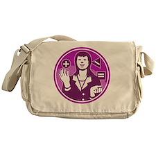 Office Worker Businesswoman Juggling Messenger Bag