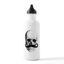 Mustache Skull Water Bottle