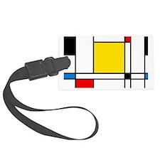 Mondrian Lines Luggage Tag