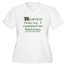 I Married An Irishman! Plus Size V-Neck T-Shirt