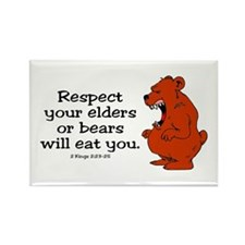 Respect Elders Rectangle Magnet