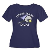 Drop Shot Divas 2 Women's Plus Size Scoop Neck Dar