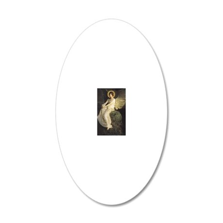 Winged Figure by Abbott Thay 20x12 Oval Wall Decal