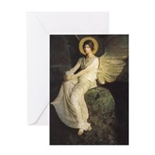 Winged Figure by Abbott Thayer Greeting Card