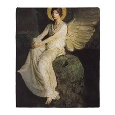 Winged Figure by Abbott Thayer Throw Blanket