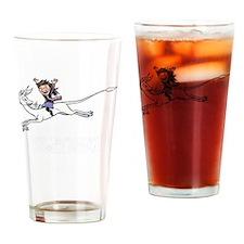 Leaping unicorn Drinking Glass
