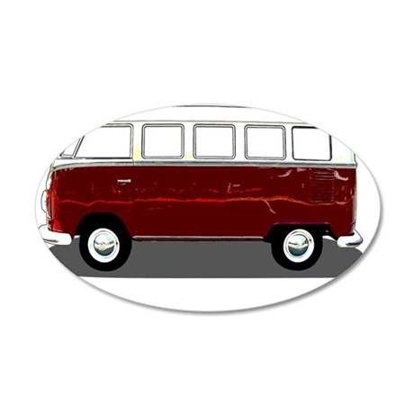 Hippy Bus 35x21 Oval Wall Decal