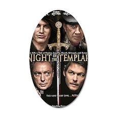 Night of the Templar Black 35x21 Oval Wall Decal