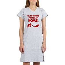 red Waiting Women's Nightshirt