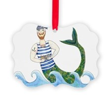Merman with treasures Ornament