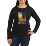 Cafe-AussieShep #4 Women's Long Sleeve Dark T-Shir