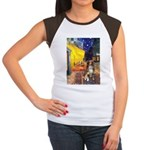 Cafe-AussieShep #4 Women's Cap Sleeve T-Shirt