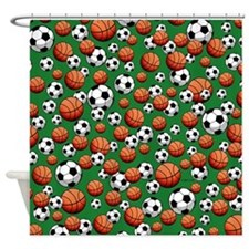 Soccer & Basketball Shower Curtain
