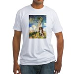 Umbrella-Aussie Shep Fitted T-Shirt
