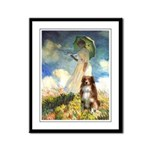 Umbrella-Aussie Shep Framed Panel Print