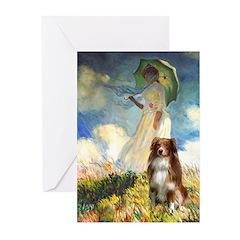 Umbrella-Aussie Shep Greeting Cards (Pk of 10)