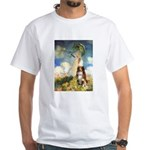 Umbrella-Aussie Shep White T-Shirt