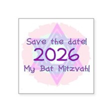 "save the date Square Sticker 3"" x 3"""