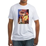 Angel3 - Aussie Shep #4 Fitted T-Shirt