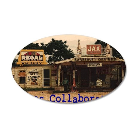 Blues Collaborative Roadhous 35x21 Oval Wall Decal