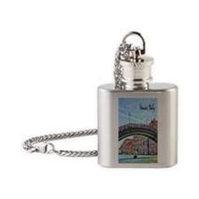 Venice Italy Journal Flask Necklace