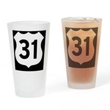 US 31 Highway Shield Drinking Glass