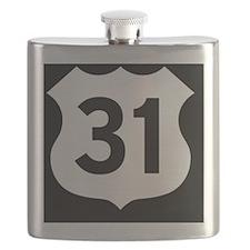 US 31 Highway Shield Flask