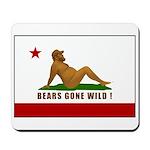 Bears Gone Wild! Flag Mousepad
