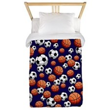 Soccer & Basketball Twin Duvet